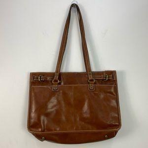 Patricia Nash Olivenza Brown Leather Tote Shoulder Bag